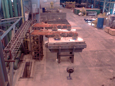 Intermediate ladle drying and heating units